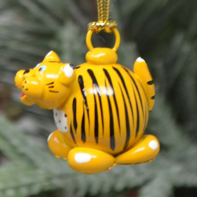 Tiger Marble Ornament Set of 3