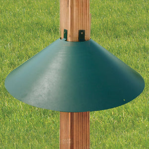 Post Mount Squirrel Baffle Green 22 inch