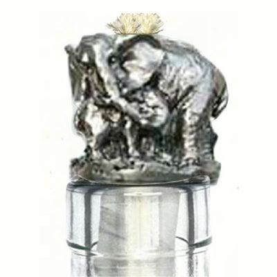 Elephant Pewter Bottle Neck Winelight