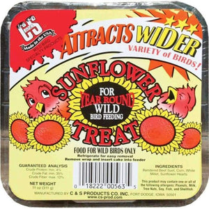 Sunflower Treat Suet Cake 11 oz - 3 pack