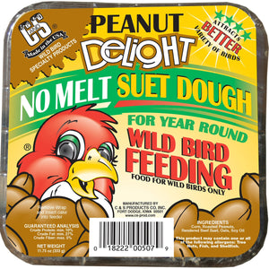 Peanut Delight No Melt Suet Dough - 3 pk