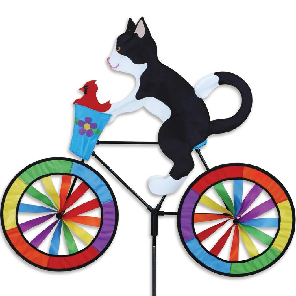 Tuxedo Cat Bicycle Wind Spinner 30 inch