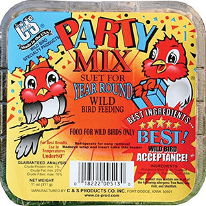 Party Mix Suet Cake 11 oz - 3 pack