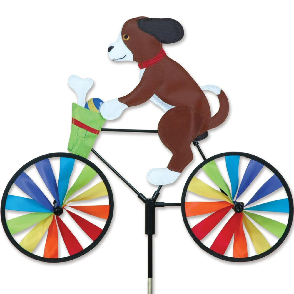 Puppy Bicycle Wind Spinner 20 inch