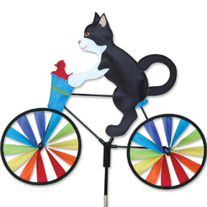 Tuxedo Cat Bicycle Wind Spinner 20 inch