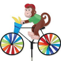 Monkey Bicycle Wind Spinner 20 inch