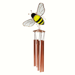 Bee Stained Glass Wind Chime