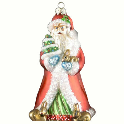 Father Christmas Glass Ornament
