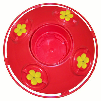 Dr JBs 4 Port Feeder Base Red/Yellow
