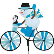 Snowman Bicycle Wind Spinner 20 inch