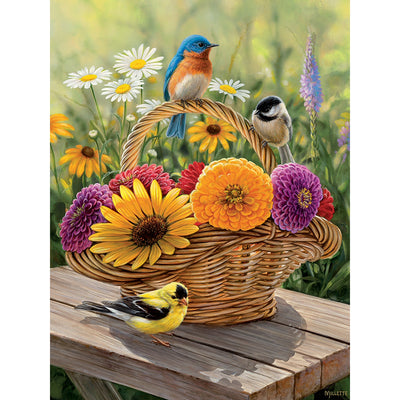 Bluebird & Bouquet 35 Piece Tray Puzzle