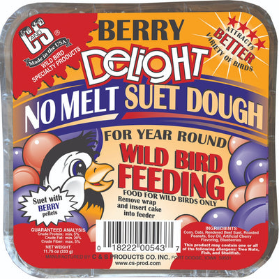 Berry Delight No Melt Suet Dough - 3 pack