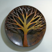 Raised Tree Flamed Wall Sculpture 24 inch
