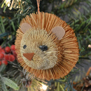 Lion Bauble Bristle Brush Ornament