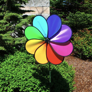 Rainbow Dazy 8 Petal Wind Spinner