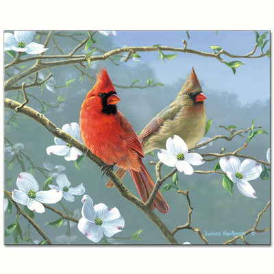 Beautiful Songbirds Glass Cutting Board
