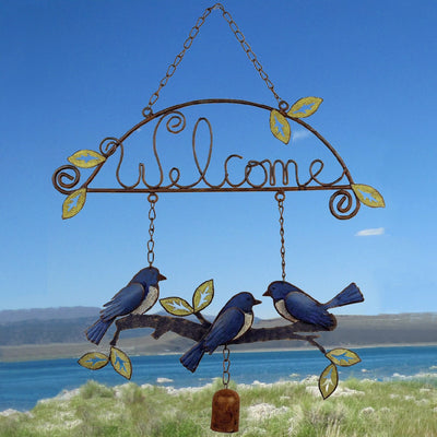 Birds of a Feather Bluebirds Welcome Sign