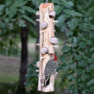 Cedar Suet Log Feeder w/12 Perches
