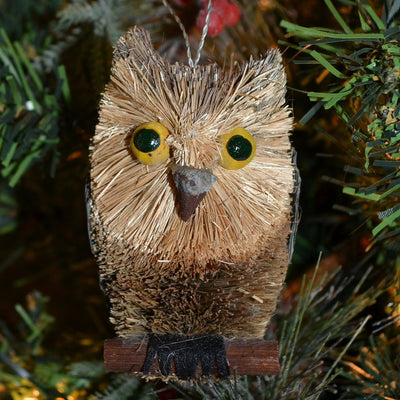 Owl Bristle Brush Ornament