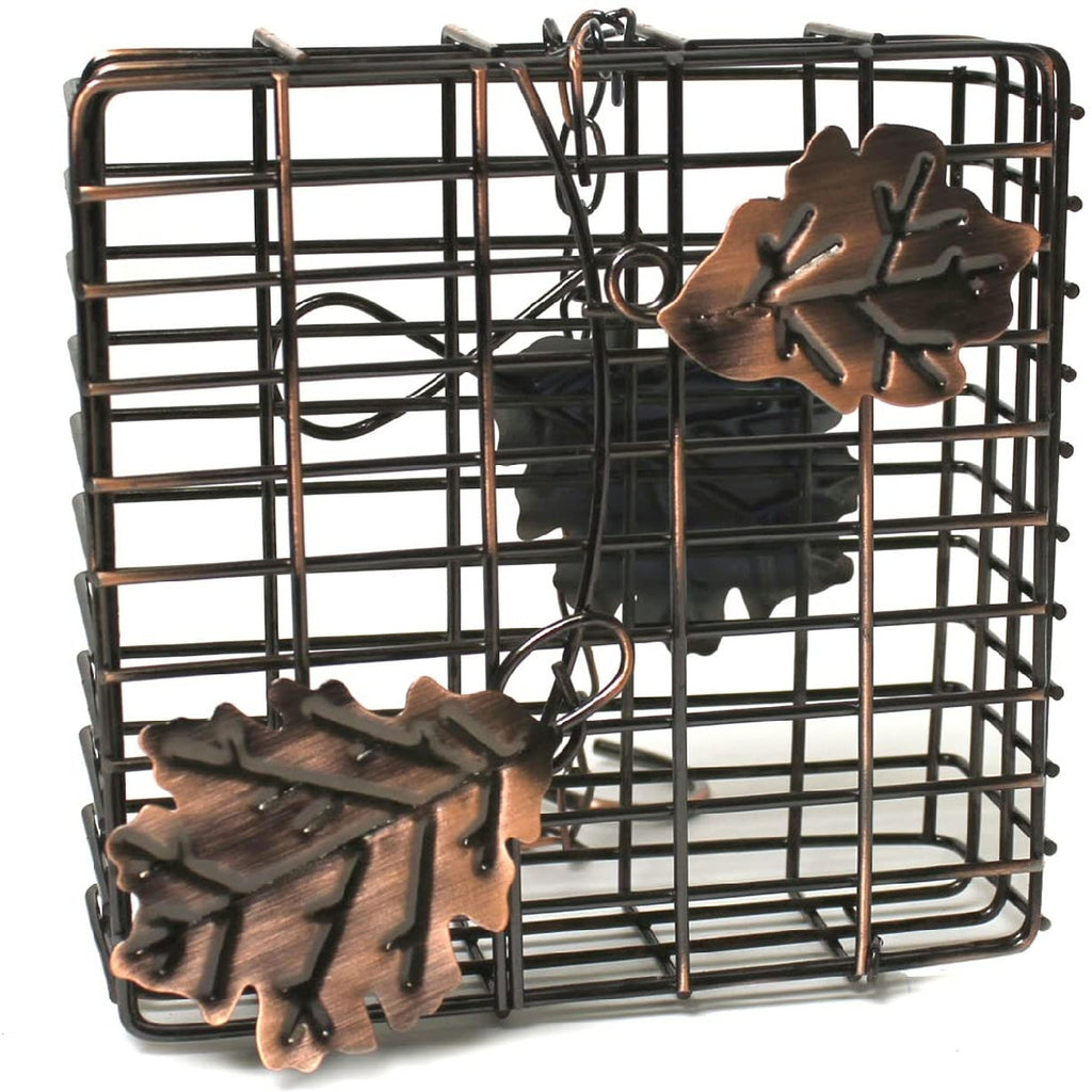 Copper Leaf Suet Bird Feeder