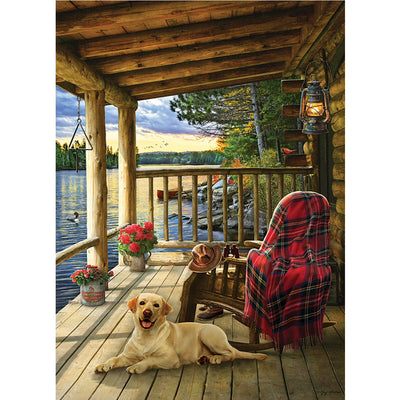 Cabin Porch 1000 Piece Jigsaw Puzzle
