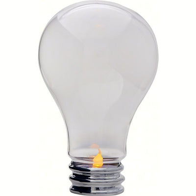 Light Bulb Standing Light w/Candle