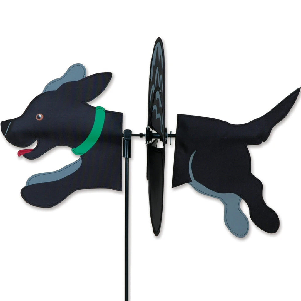 Petite Wind Spinner Black Lab 19 inch
