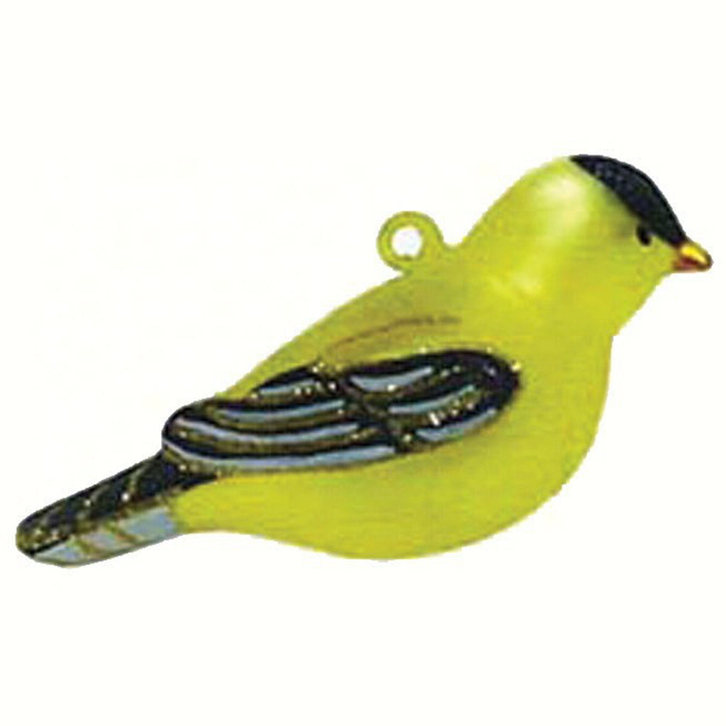 Goldfinch Glass Bird Ornament