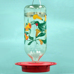 Glass Painted Hummingbird Feeder 32 oz - Momma's Home Store