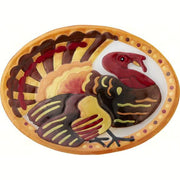 Turkey Glass Serving Platter