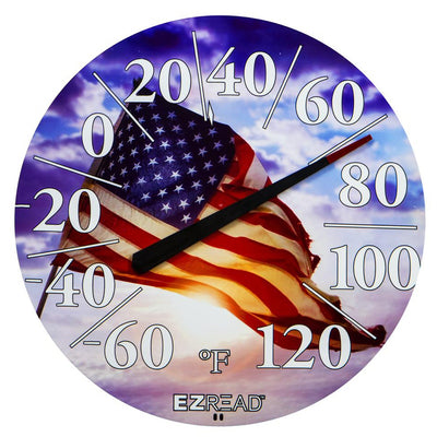 American Flag E-Z Read Thermometer 12.5 inch
