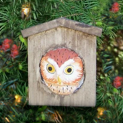 Owl Birdhouse Tree Ornament