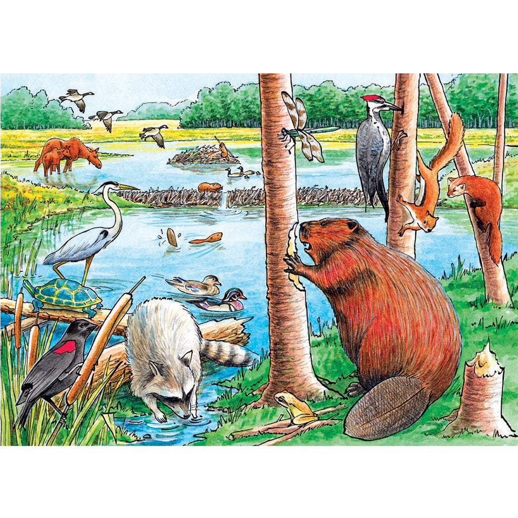 The Beaver Pond 35 Piece Tray Puzzle