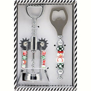 Holiday Glass Beaded Corkscrew Gift Set