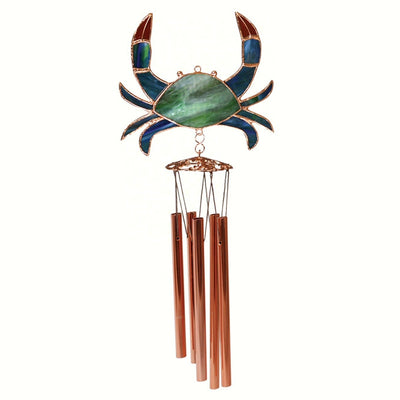 Crab Stained Glass Wind Chime