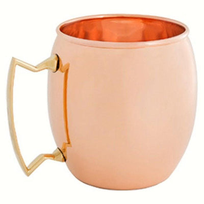 Moscow Mule Mug 16 oz Pure Solid Copper, Nickel Line Brass Handle - Momma's Home Store