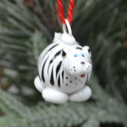 Zebra Marble Ornament Set of 3