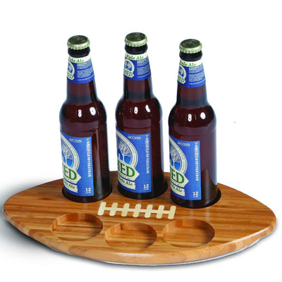 Bamboo 6 Beer Huddle Tray 14 x 8