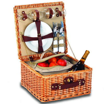 Baxter Stone Lining 2 Person Picnic Basket - Momma's Home Store