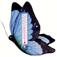 Blue Swallowtailed Butterfly Small Window Thermometer - Momma's Home Store