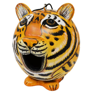 Tiger Gord-O Wooden Birdhouse