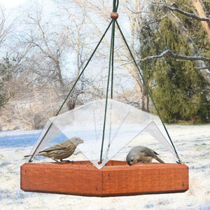 Hanging Tray Bird Feeder Cover 9 x 9