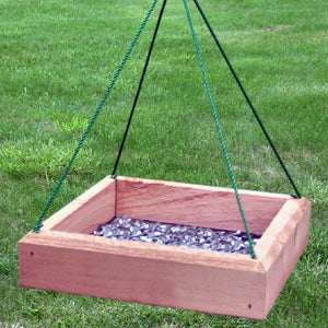 Hanging Tray Cedar Bird Feeder 12 inch