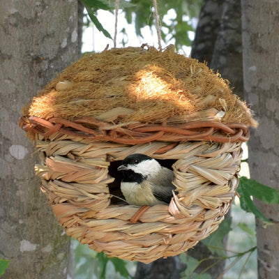 Grass Roosting Pocket Bird House Round