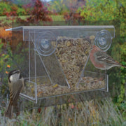 Clear View Hopper Mirrored Window Feeder