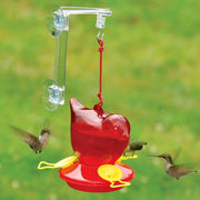 Red Bird Window Hummingbird Feeder