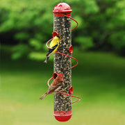Spiral Tube Bird Feeder Red - Momma's Home Store