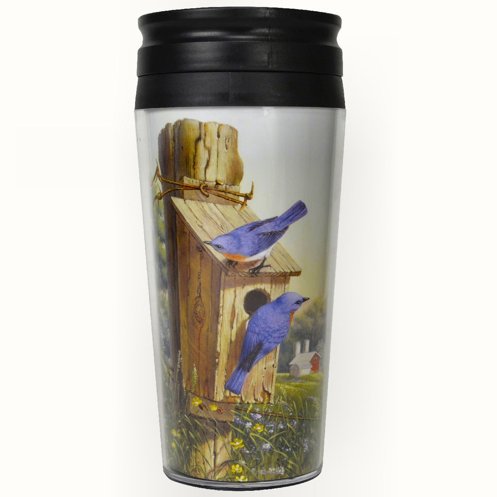 Summer Bluebirds Thermal Mug
