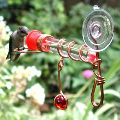 Copper Tube Window Feeder w/Perch