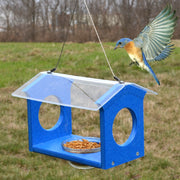 Bluebird Canteen Recycled Bird Feeder